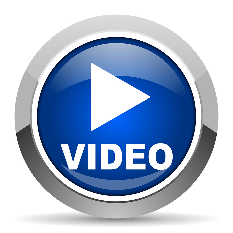 blue video play icon 9